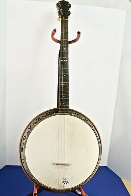 Vintage BANNER BLUE Antique (1920s) Lange Made 4-String Banjo 19 Frets