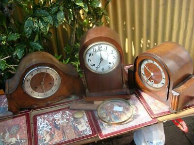 Vintage  Mantle clock parts For Restoration Spare Or Repair