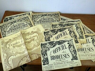 BRODERIE Le Journal des Brodeuses et DIVERS 1920 1922 1950 1951 Mode Embroidery