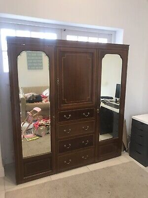 Antique Wardrobe with Mirrors