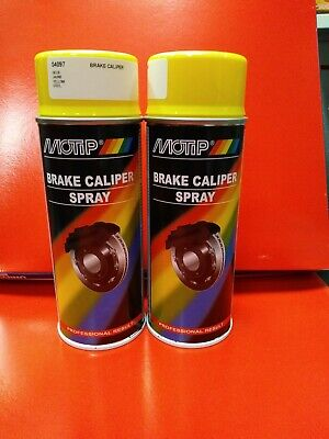 2X Motip Vht Brake Caliper Spray Paint Yellow 400Ml Motorama Hull