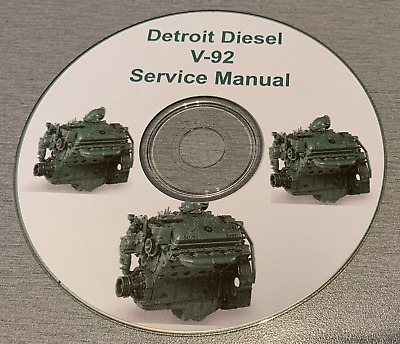Detroit Diesel V-92 Service Manual on  CD, Bus, Truck, Boat, Generator,