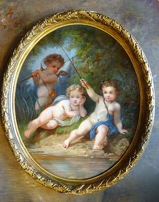 Amazing French 19th Century Oil Painting