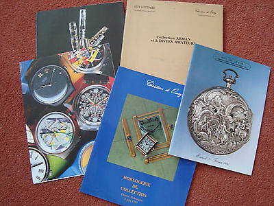 French Auction Catalogues - Clocks and Watches