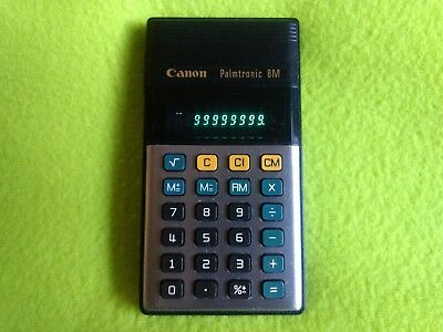 RETRO CANON PALMTRONIC 8M - Calculator LED LD-8M 3 vintage Calculadora RARE 1975