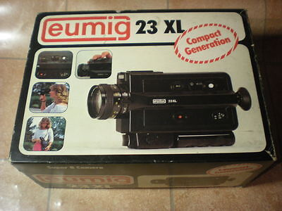 Eumig 23 XL Movie BOXED Camera Vintage Super 8 8mm RETRO
