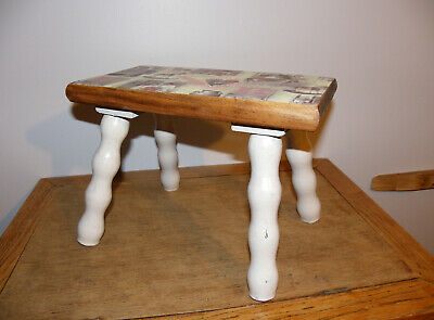 Ancien Petit Banc En Bois Renove Old Small Bench In Renovated Wood