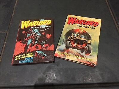 Warlord BOOK FOR BOYS ANNUALs 1978 & 1979 Vintage Retro Book Children War Pair 2