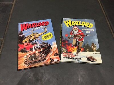 Warlord BOOK FOR BOYS ANNUALs 1985 & 1986 Vintage Retro Book Children War Pair 2
