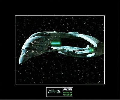 "STAR TREK TNG Romulan Warbird 8"" x 10"" Photo - 11"" x 14"" Black Matted"
