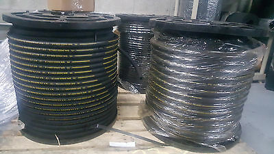 Hydraulic Hose 100 Ft R2T06 3/8 Sae W.p. Psi 4800 2Wire Free Shpping