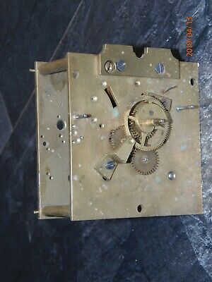 Antique, vintage mantel or wall clock movement for parts or rebuild.