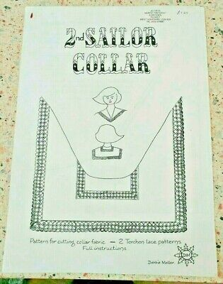 Torchon Lace Pattern  for Bobbin Lace Making - 2nd Sailor Collar