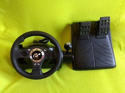 Logitech Driving Force Pro Racing Steering volante y pedales E-UJ11 PS2 PS3 PC