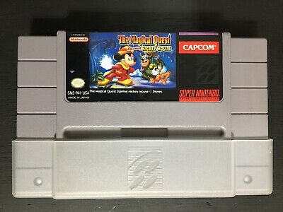 SNES Super Nintendo The Magical Quest Starring Mickey Mouse Tested Authentic
