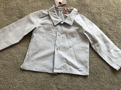 Baby Blue Boys Long Sleeve Shirt 12 Months La Coqueta NEW