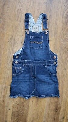 Next blue denim jeans pinafor dress for girl age 8 years 128 cm