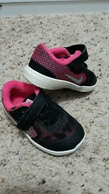 2a560f8bf00b6 Toddler Girl's Nike Revolution Athletic Shoes infant tennis shoes Size 6C  baby