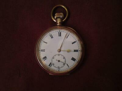 Antique Gold Filled Quality Dennison Star Case Openface Stem wound Pocket Watch