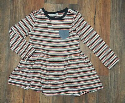 Next Girls Striped Casual Dress 100% Cotton 2-3 Years