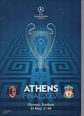 2007 CHAMPIONS LEAGUE FINAL AC MILAN v LIVERPOOL