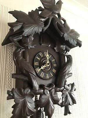 Stunning Large 1800's Antique Cuckoo Clock