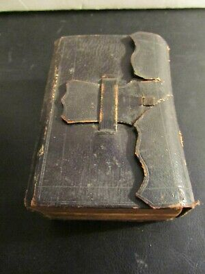 1844 Holy Bible - Vintage Leather Bound Antique -Old and New Testament VERY RARE