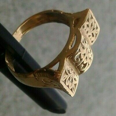 Rare Ancient Solid Ring Antique Roman REAL Bronze Stunning Artifact
