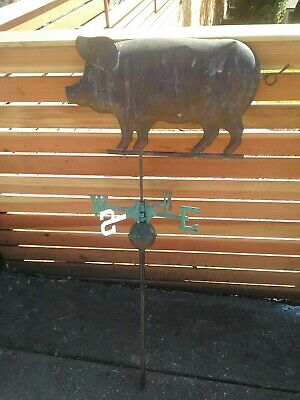 Antique Copper Pig Weathervane