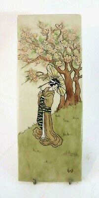 Antique T&V Limoges France Japanese Decorated Porcelain Tile Signed LH Wilson