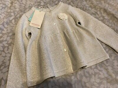 BNWT Monsoon Girls Cardigan Silver 18-24 Months
