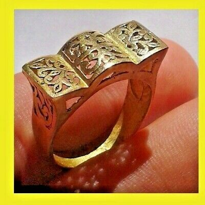 RING VIKING BRONZE EXTREMELY RARE Ancient Pyramid RING artifact VERY Stunning