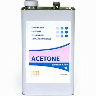 Acetone 5 Litres 99.9% pure solvent brush cleaner