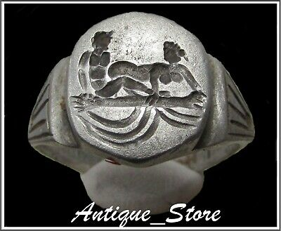 ** EROTIC RING **Ancient Silver Roman Ring **AMAZING **WOW**