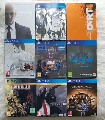 Yakuza 2 Final fantsasy Ps4  STEELBOOK CASES ONLY  5 EMPTY CASES