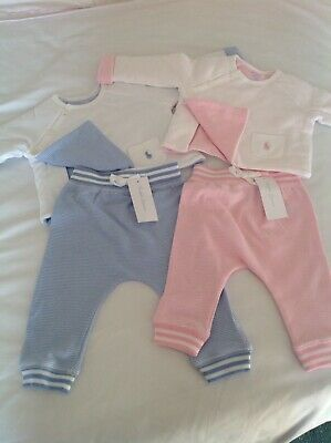 Ralph Lauren Baby Girls Boys Outfit BabyGrow Playsuit Pink, Blue100%genuine New