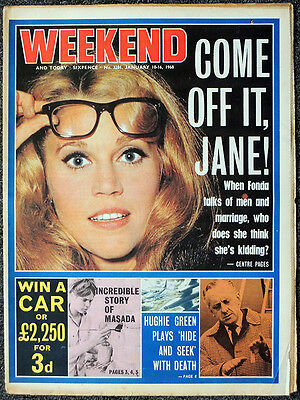 Weekend Magazine 10 Jan 1968 . Jane Fonda Front Cover & Photo Feature