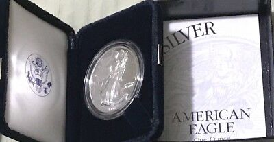 1999 Silver Proof American Eagle Dollar U S MINT (PHILADELPHIA) - GEM