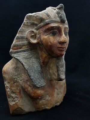 ANCIENT EGYPTIAN ANTIQUES Large Statue Of Ramses II Hand Carved EGYPT Stone BC