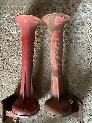 Authentic Very Old Wabco A2 Locomotive Horn Set -RARE-