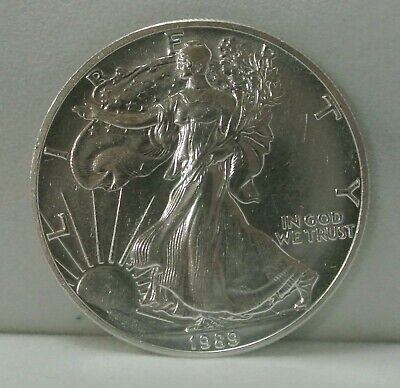 1989 American Silver Eagle 1 Oz Coin