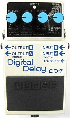 Used Boss DD-7 Digital Delay Guitar Effects Pedal!