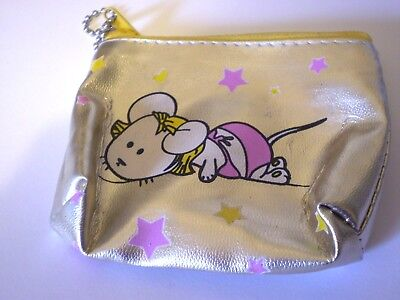 Mouse Zip coin Purse - Gold