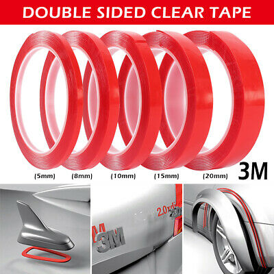 3M Double Sided Permanent Strong Adhesive Super Sticky Clear Tape Waterproof