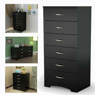 Dresser 8 Drawer Chest Cherry White Wood Bedroom Furniture Clothes