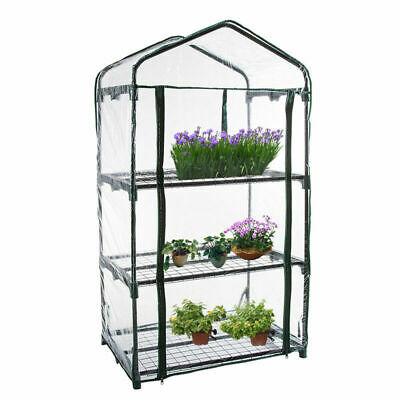 3 Tier Mini Greenhouse Frame Green House Garden Outdoor Plants Growing HOT