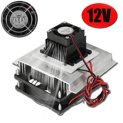 12V 6A Electronic Thermoelectric Refrigeration Cooling System Kit Cooler Fan DIY