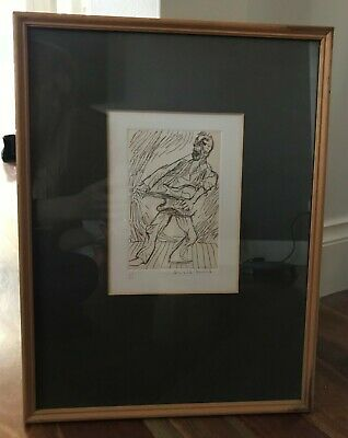 Donald Friend; 'Musician 4' hand signed etching