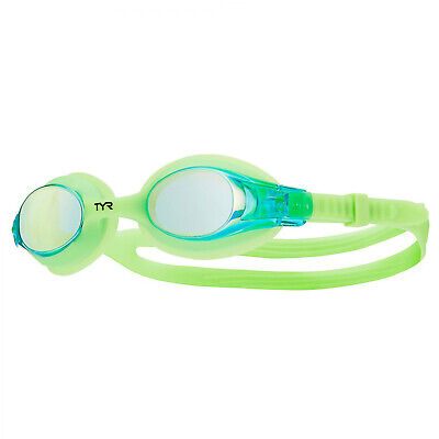 TYR Swimple Kids Mirrored Swimming Goggles Blue Green