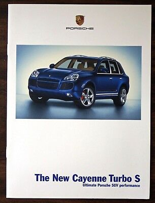 Original 2006 Porsche Cayenne Turbo S Introductory Brochure. NOS.